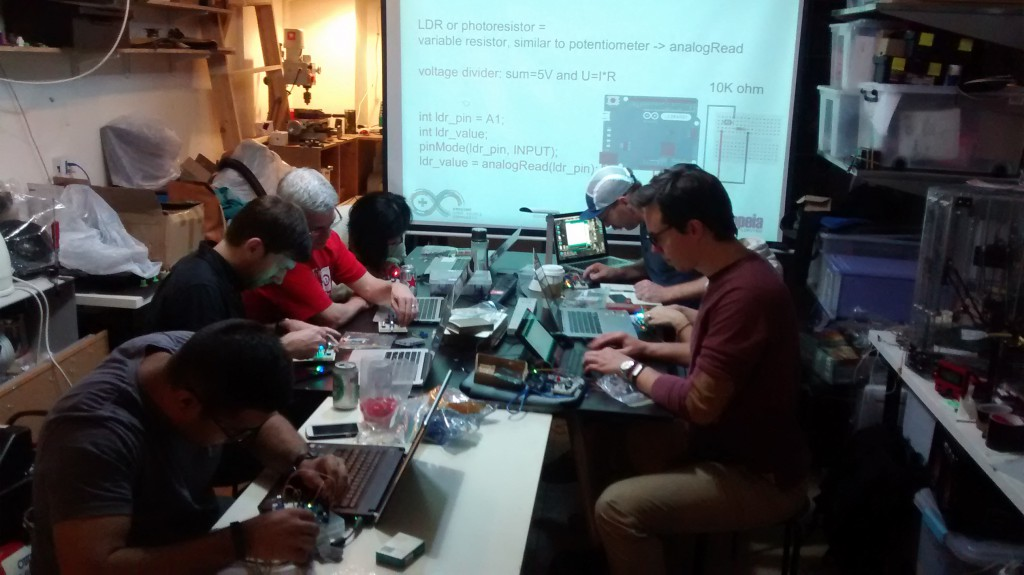 the Arduino workshop at DSL on 25 March 2015