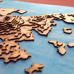 Made at DSL: laser cut topographical map