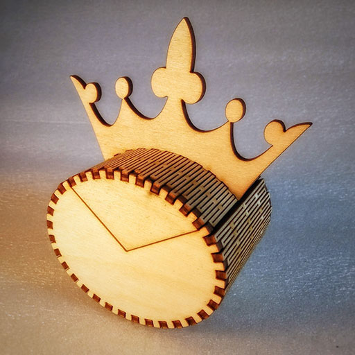 Laser cut elliptical king box